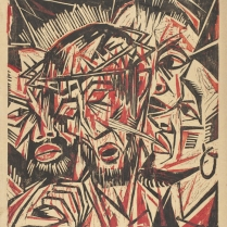 Otto Lange, The Mocking of Christ, after 1919. Woodcut, 52.4 x 46.2 cm. Los Angeles County Museum of Art. Source: http://collections.lacma.org/node/178209