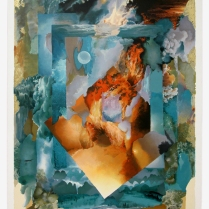 Shraga Weil, Pillar of Fire, 1991. Serigraph, 107 x 76 cm (42 x 30 in.). Source: https://www.safrai.com/details_Weil_s-255%20Pillar%20of%20Fire_451.html