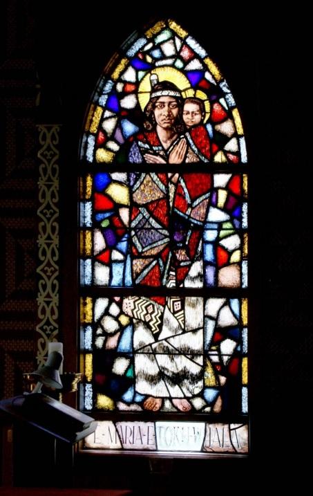 Maori stained glass
