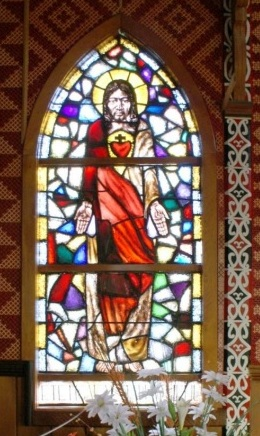 Maori Jesus stained glass