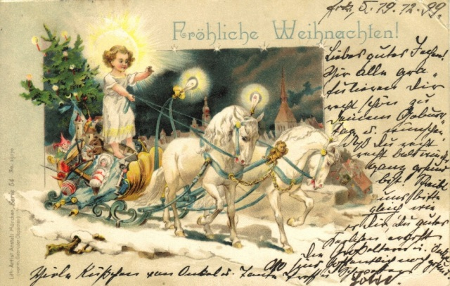 The Christ Child driving a sleigh
