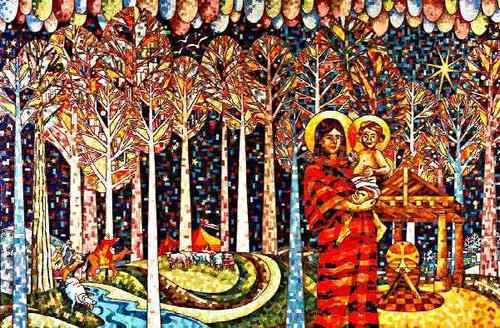 Madonna and Child mosaic