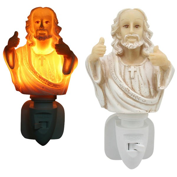 Jesus night-light (thumbs up)
