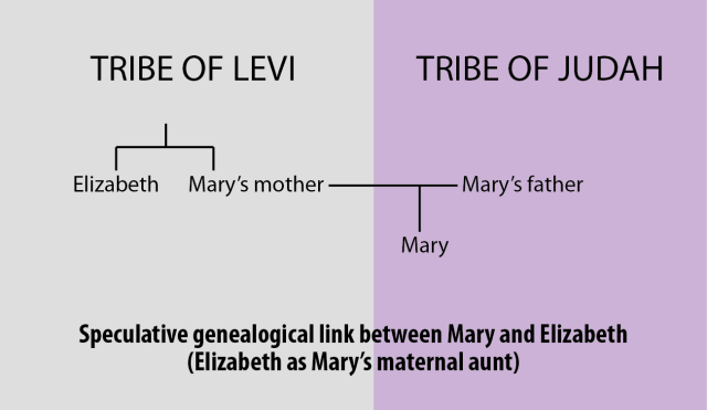 Mary's relationship to Elizabeth (speculative -- aunt)