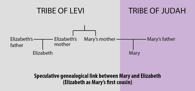 Mary's relationship to Elizabeth (speculative -- first cousin)