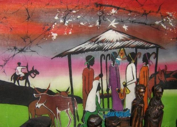 African American Nativity Painting