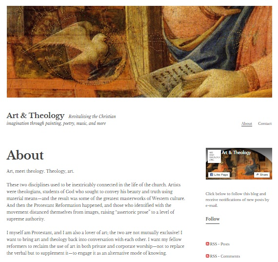 Art & Theology website