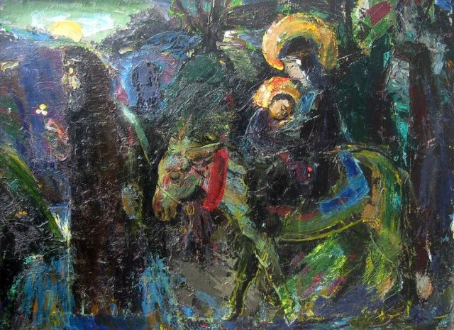 Flight to Egypt by David Popiashvili